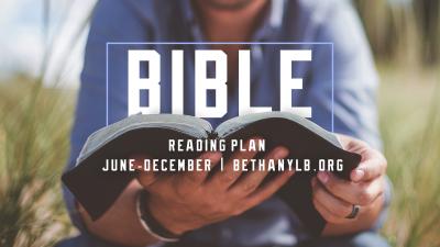 Bible Reading Plan: June - December