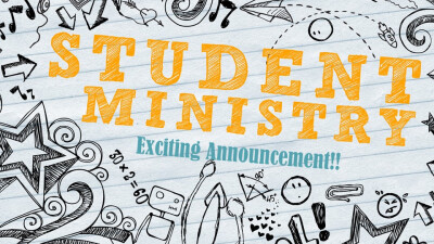 Exciting Announcement for Student Ministries!