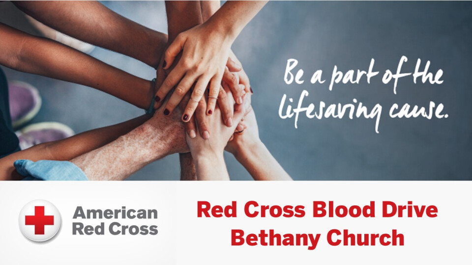 Red Cross Blood Drive: Reserve your appointment today